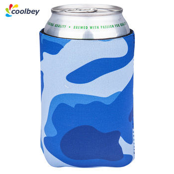 Camo Blue Foam Soft Side Collapsible Pocket Wholesale For Sale Racing Drink Huggers Can Coolers Coozies