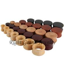 Brown Color Natural Wood Ear Plugs And Tunnels