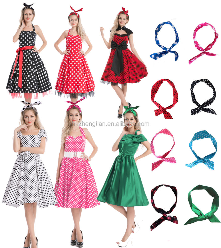 NEW bestdress Vintage 50 s Halter Neck Dress Polka dots Swing Jive Dress Rockabilly Retro PinUp Dress uk8-24