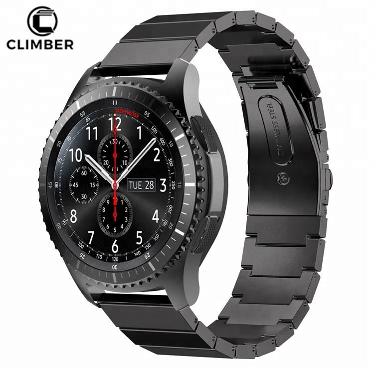 For Gear S3 Frontier Accessories Bands,Stainless Steel Watch Band Strap For Samsung Gear S3 Classic