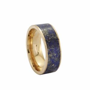 Hot Sale Wanita Fashion Perhiasan emas cincin malachite/obsidain/lapis lazuli