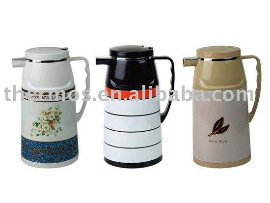 Metal coffee pot, 1000ml, glass inner