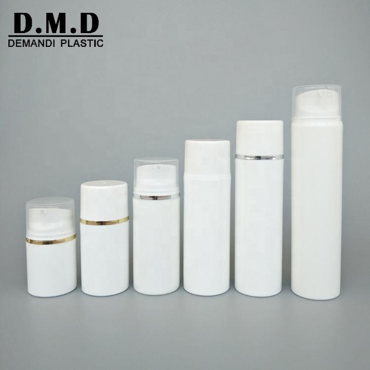 30ml 50ml 80ml 100ml 120ml 150ml Plastic PP white cosmetic airless pump bottles