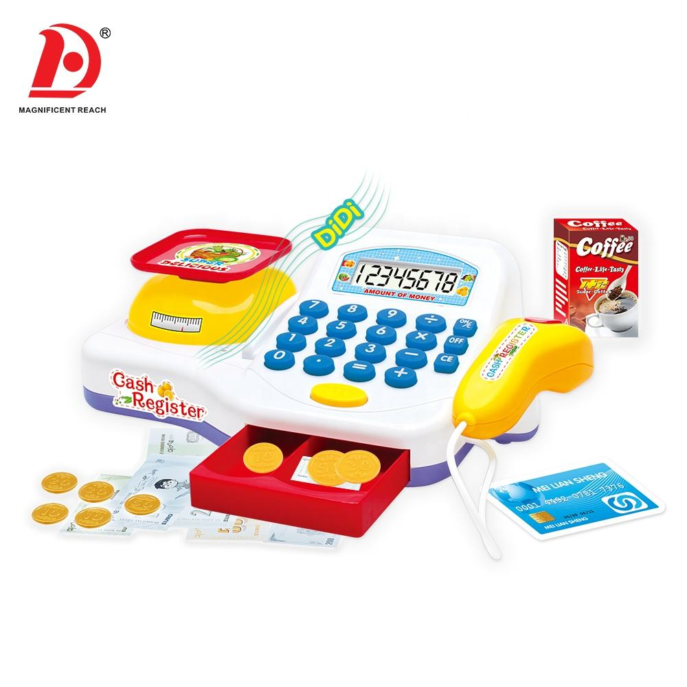 HUADA 2019 Wholesale High Quality Plastic Intelligence Supermarket Toy Cash Register for Kids