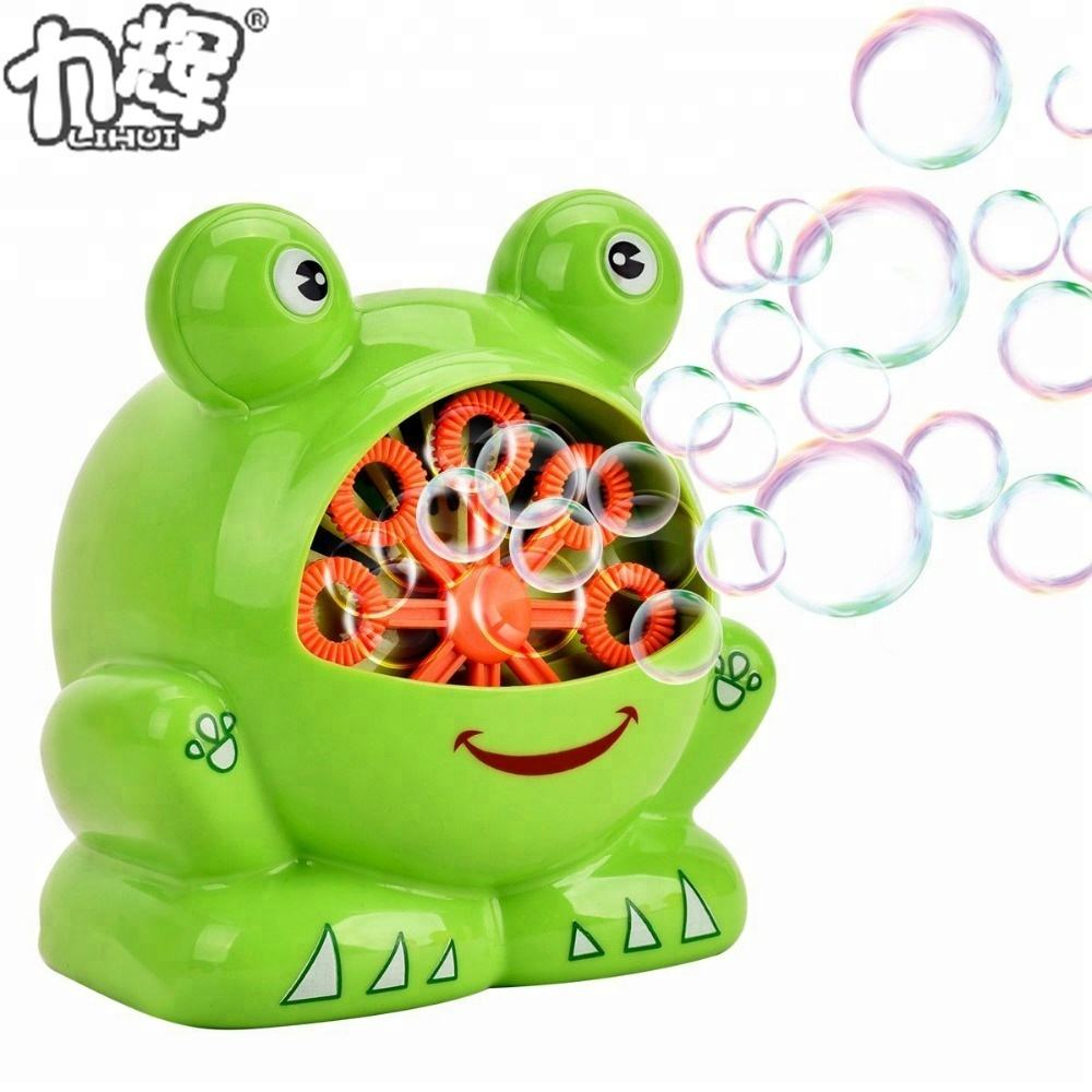 Kids Favorite 120ml Lovely Frog Bubble Machine Toy
