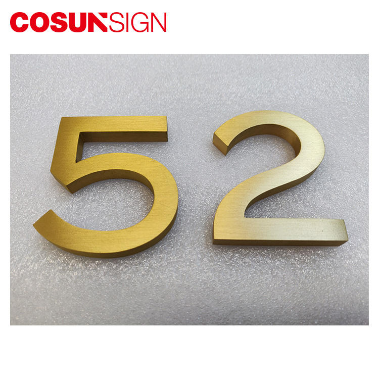 Metal Advertising Brushed Stainless Steel Letter Sign