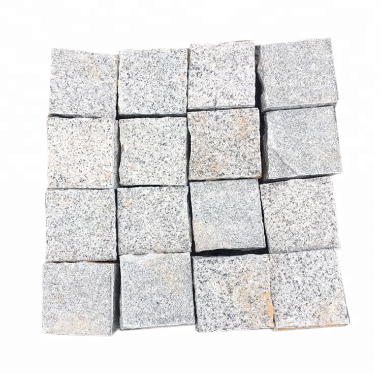 Natural White Chinese Granite Paving Stone Bricks