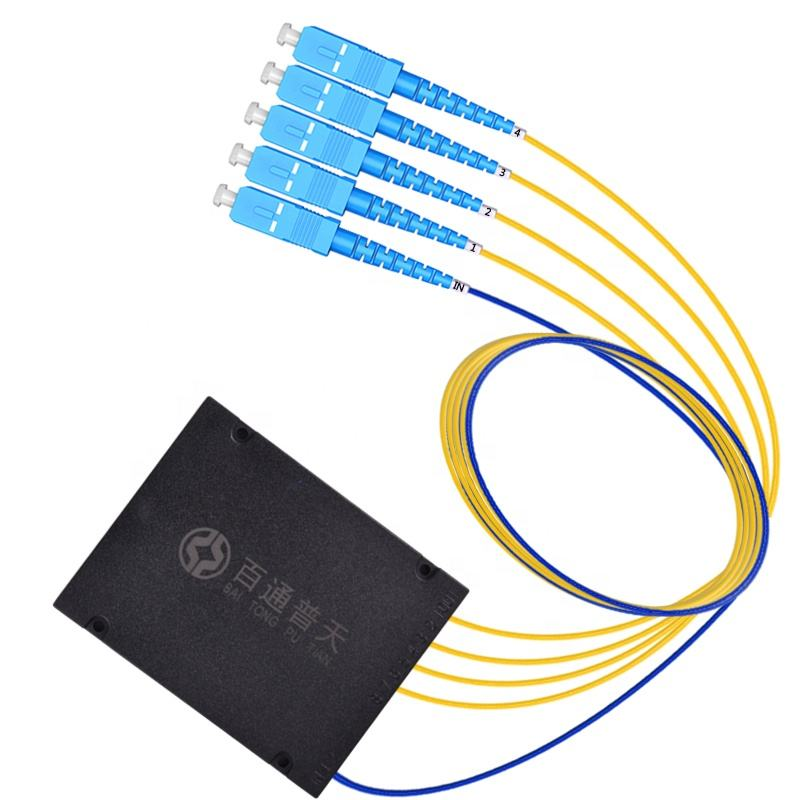 1*4 sc upc gpon plc splitter price pigtail 4 way fiber optic splitter