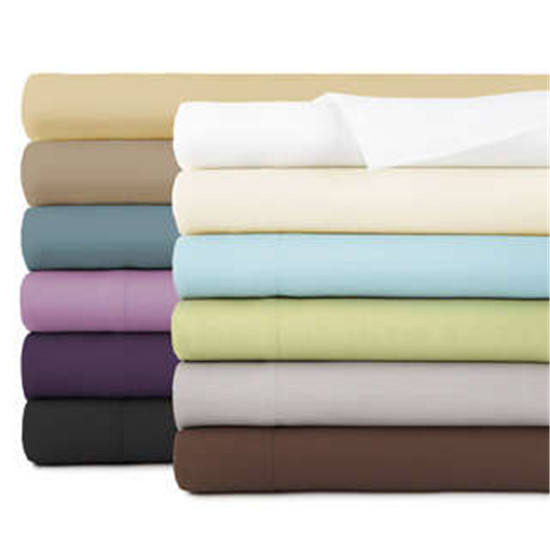 China wholesale 60s sateen 4pcs king size bed linen hotel luxury 100% cotton bed sheet bedding set