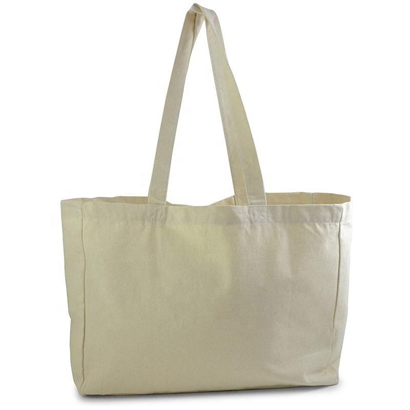 Eco friendly biodegradable large cotton tote promotional 100 cotton tote bag natural recycled fashion plain cotton tote bag