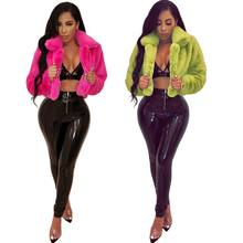 YSMARKET Sexy Short Faux Fur Coat Women Autumn Winter Clothes Warm Soft Loose Fleece Jackets Ladies Overcoat Outwears EYM-8301
