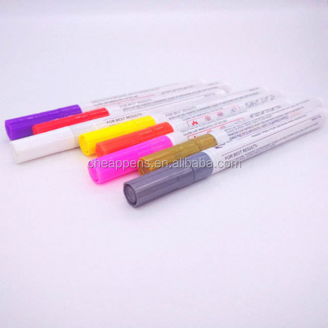 Hot product oil based ink paint marker inner paper box selling with 12 color paint marker