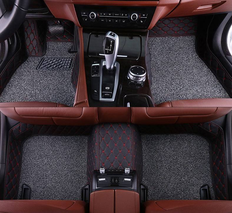 Custom High quality waterproof double layer coil diamond 3D car mat