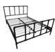 Bedroom furniture cheap super queen size I shaped metal bed