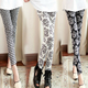 China winter new style fashion woman milk silk legging slim tight sexy printed legging for ladies