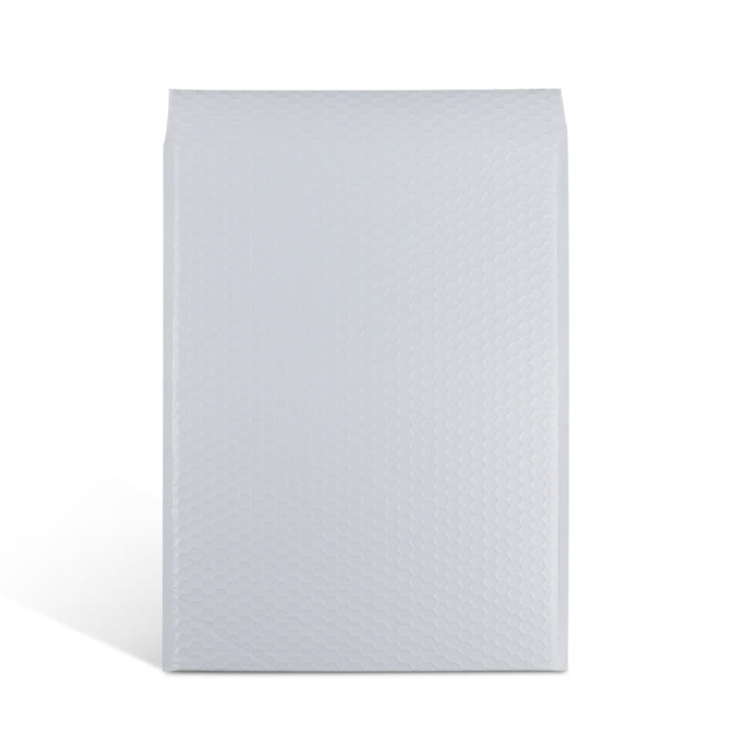 white matt materllic foil poly bubble envelope mailer padded post package bag for shipping
