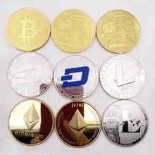 Wholesale gold plated souvenir bitcoin Medal Coin Mores Commemorative Coin Gift Prize