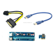 PCI-E Express 1x to 16x USB 3.0 Data Cable SATA to 6Pin IDE Molex Power riser for ETH GPU/BTC mining