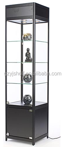 Free Standing Display Cases/Luxury Glass Display Case for Shopping Mall