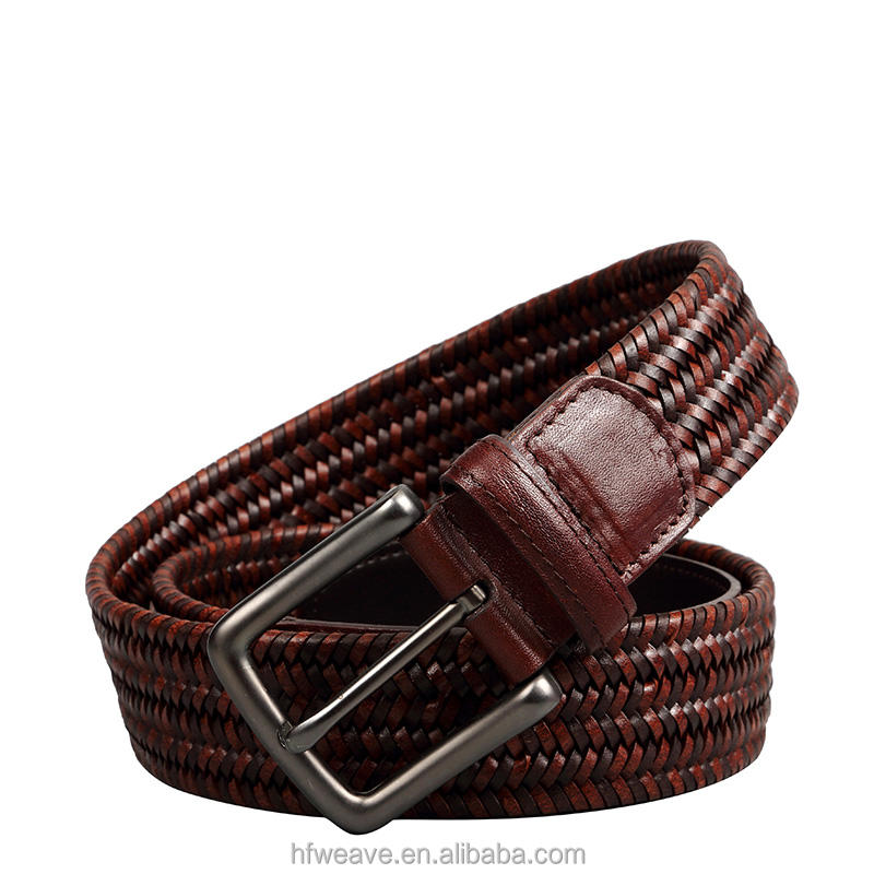 2018 Top Quality Western Style Stretch Braided Elastic Durable Woven Belt