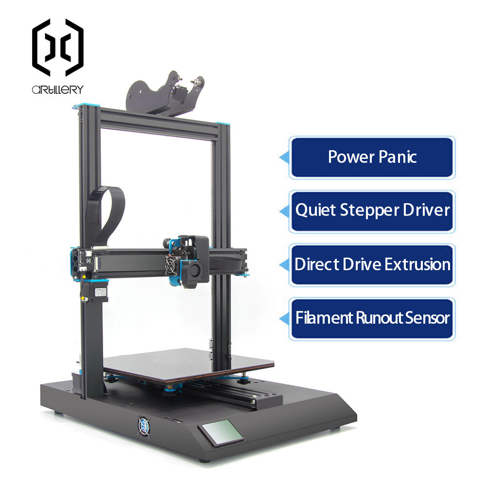 New upgraded and Ultra-quiet Driver TFT Touch Screen Dual Z axis Resume USB Artillery 3d printer