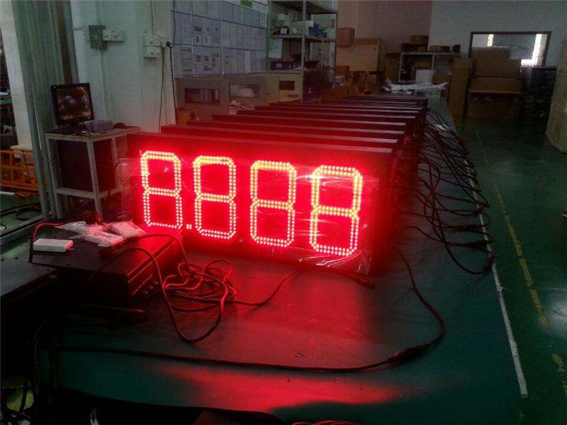 commercial advertising screen outdoor rgb stage for concert large interval timer led digital clock red display