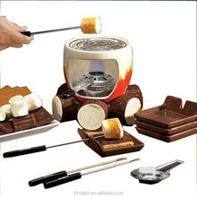 fondue grill, Customized Ceramic cheese chocolate indoor/Outdoor fondue grill sets