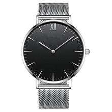 stainless steel mesh strap simple quartz watch custom logo for men women watch