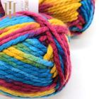 Dyed wool acrylic mohair blended nylon fancy knitting yarn