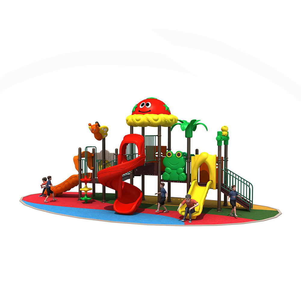 Hot selling kindergarten facilities outdoor playground plastic slide with high strength