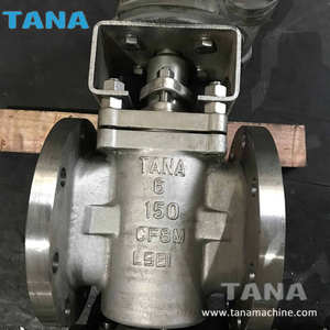 Stainless steel Flanged sleeve type soft sealing ptfe Plug Valve with bare shaft