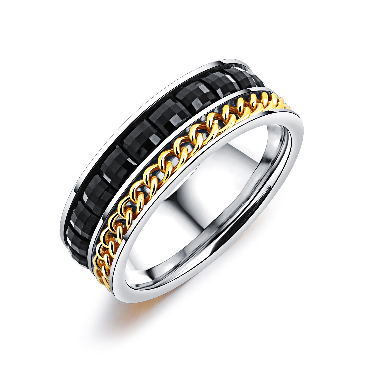 New Fashion Shiny 결정 링 Jewelry 대 한 Men 쿨 Gift Finger Rings