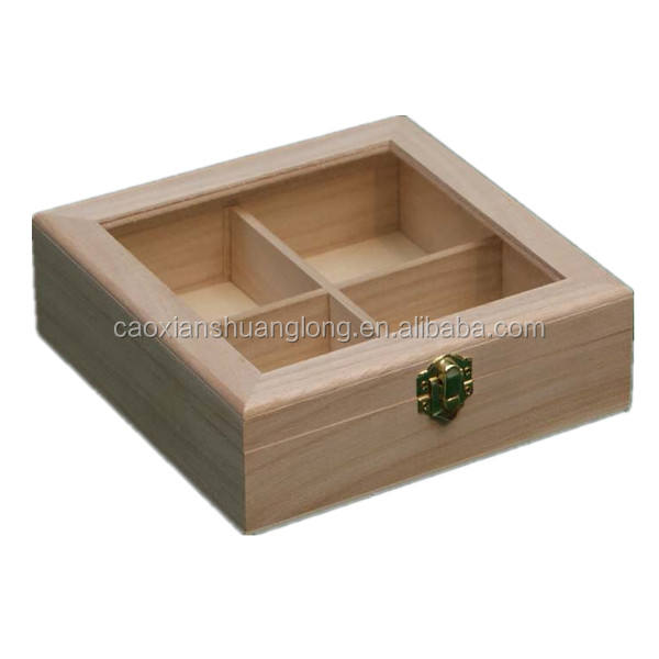 New Unfinished Wooden Box With Glass Lid Cut Out High Quality Unfinished Wood Boxes With Lids Small Unfinished Wooden Boxes