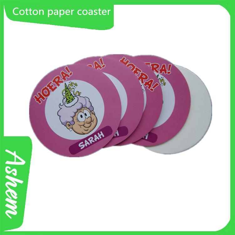 Venda quente 2 mm rodada paper drinking cup pad com personalizado IC-665
