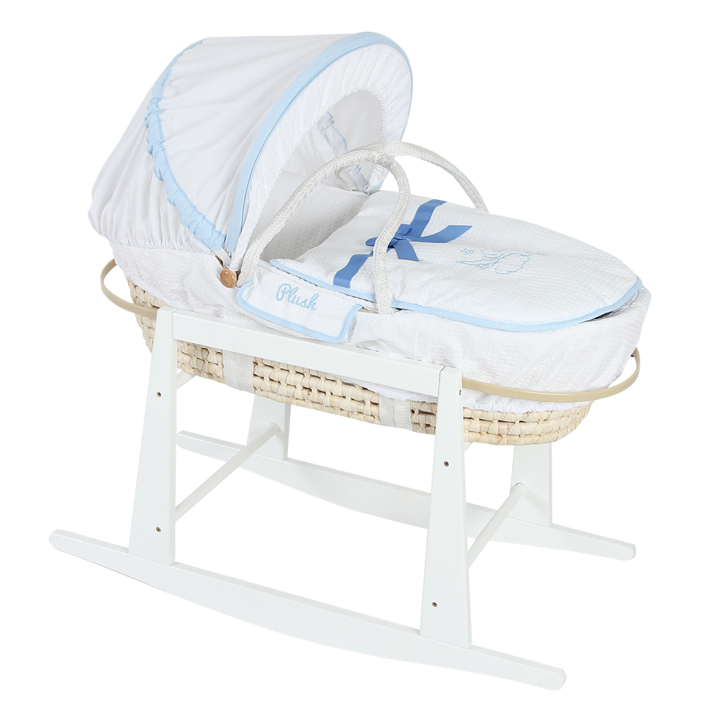 Hot Sells Portable 100% Handmade Baby Moses Basket With Stand For Baby Sleep
