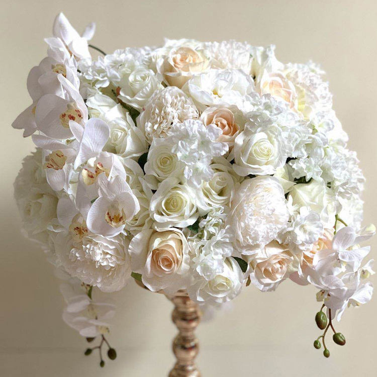 hanging decorative artificial rose flower ball