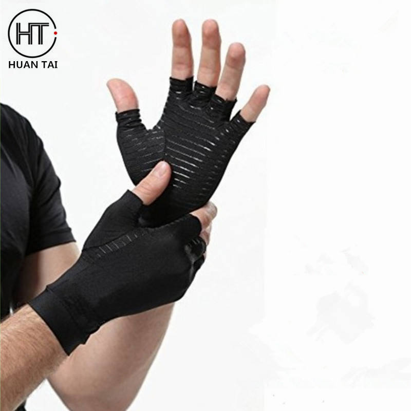 Wholesale The high quality Half Fingers Therapeutic Copper Compression Arthritis Gloves