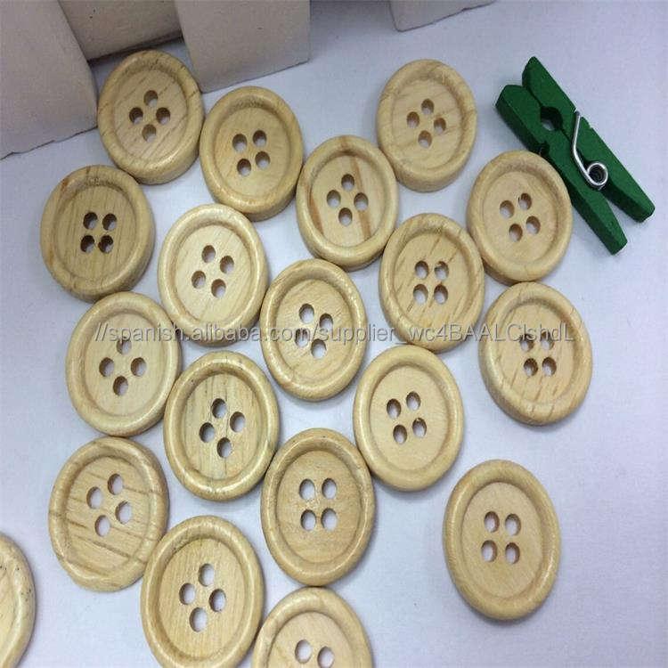 Al por mayor 18L cuatro agujeros durable camisa a granel botones de madera