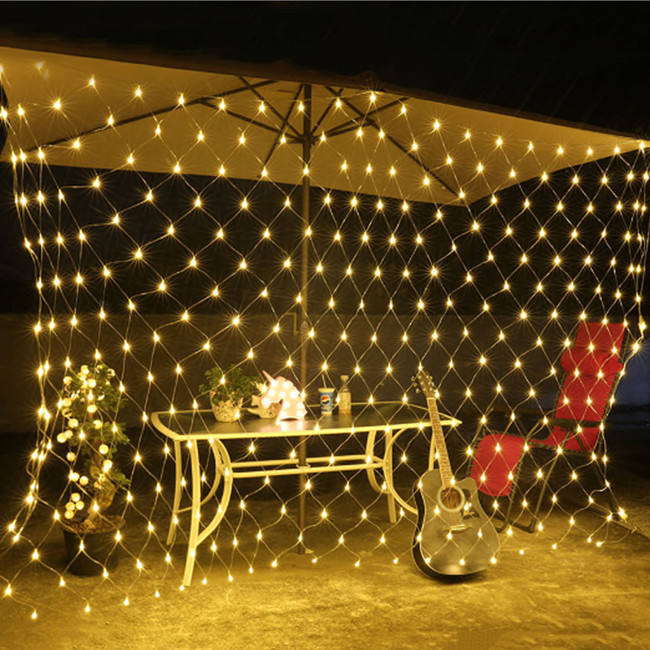 2 M X 2 M 144 Led Fairy Lights Festival Netto Mesh String Xmas Party Wedding Kerstverlichting Outdoor Decoratie vakantie Verlichting