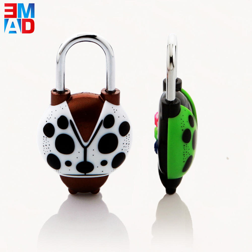 Cute new design animal shaped lock 3 codes combination cartoon lock