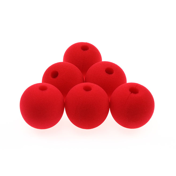Color customizable party sponge circus clown nose cheap red foam clown nose