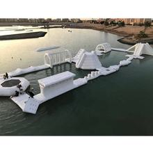 Anti-UV Material Aqua Park / Egypt Lake Inflatables Water Games for Adults