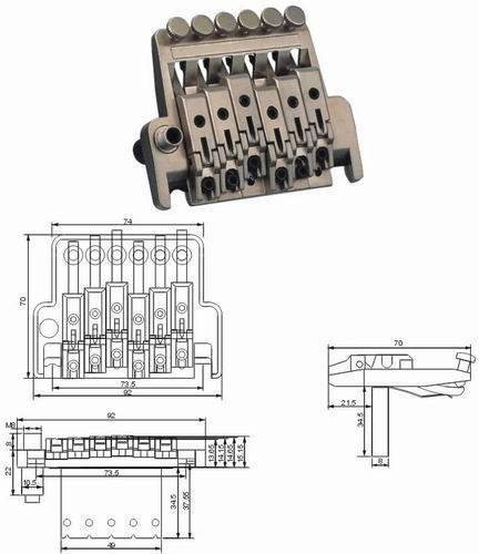 Wholesale Locking Tremolos Guitar Bridge