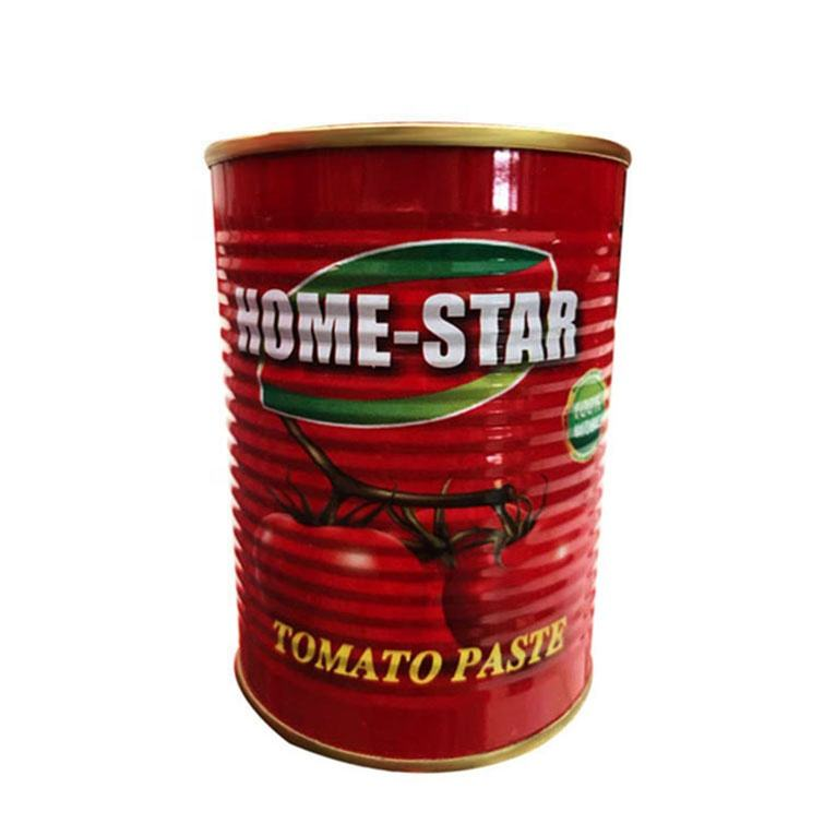850g Hard Open Canned Organic salsa de tomate natural
