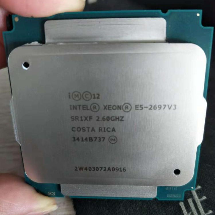 100% Original Intel Xeon E5-2697V3 E5 2697V3 14-core 2.60GHZ 35MB 22nm CPU LGA2011-3 E5 2697 V3 processador