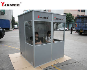 Removable and portable professional self-assembly simultaneous interpretation booth for 2 interpreter