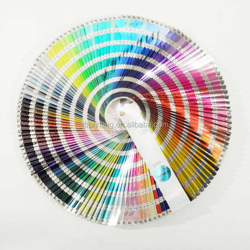 CMYK pantone color guid /atlas / color chart for metallic Gold And Silver Cardboard