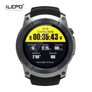 MTK 2503 Heart rate GPS watch very small smart phone watch for men wristwatch