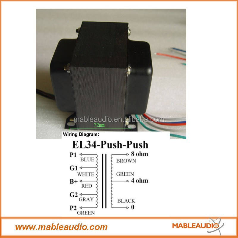 EL34PP push pull transformer tube amplifier output transformer