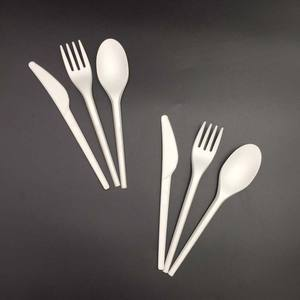 Restaurant PLA compostable disposable biodegradable plastic cutlery